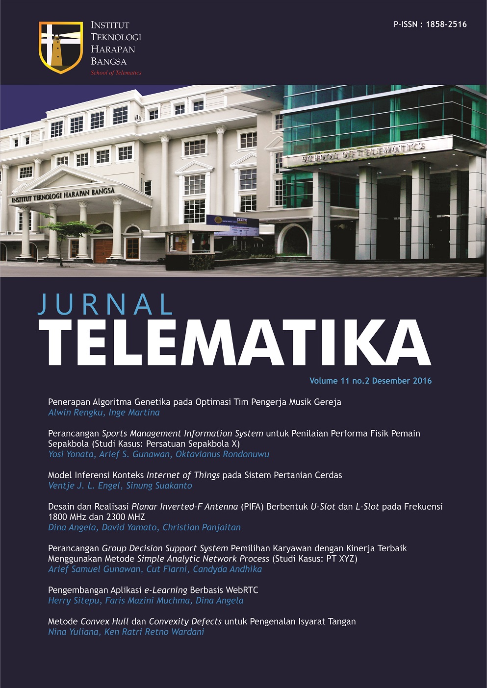 Cover Vol 11(2)
